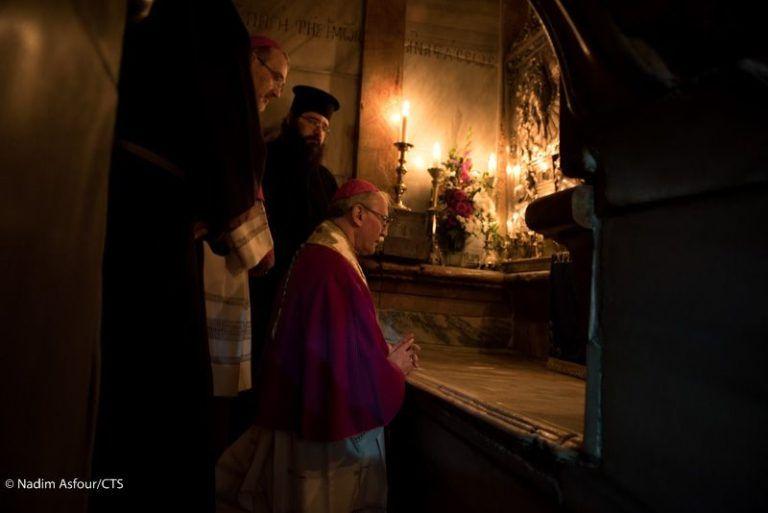 Ingreso solemne en el Santo Sepulcro del nuevo delegado apostólico en Tierra Santa, Leopoldo Girelli