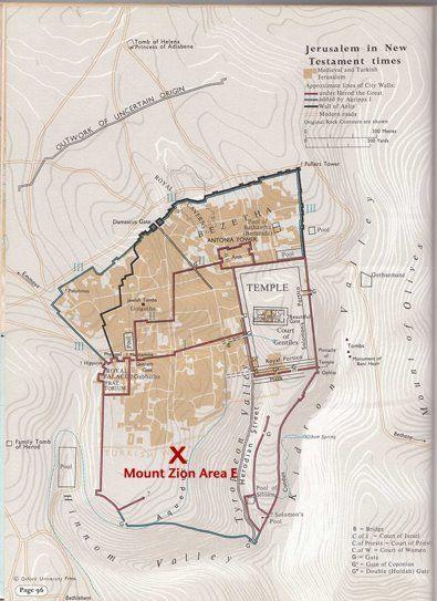 Localización y planos del Yacimiento Arqueológico en el Monte Sión