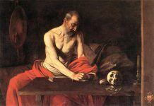San Jerónimo, versión de Caravaggio de 1608 en Malta