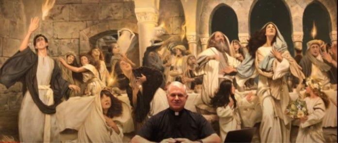 El padre Solana en su peregrinación-retiro virtual de la Cuaresma de 2020